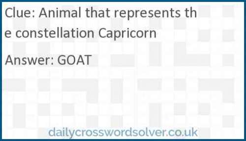 Animal that represents the constellation Capricorn crossword answer