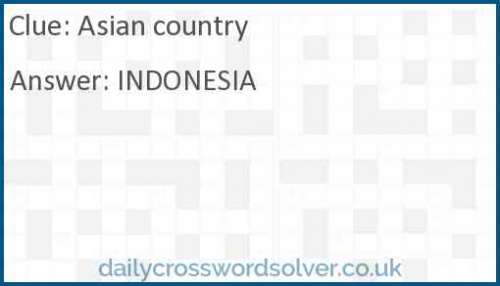 Asian country crossword answer