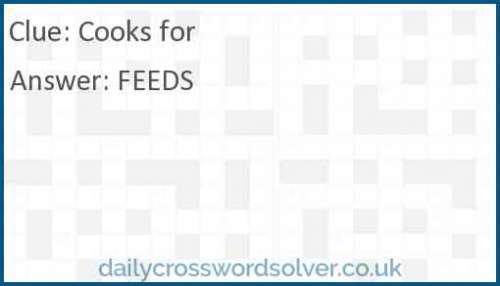 Cooks for crossword answer