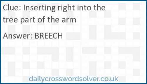 Inserting right into the tree part of the arm crossword answer