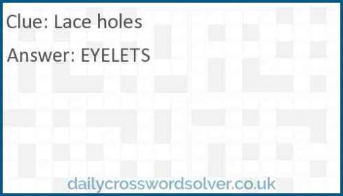 Lace holes crossword answer