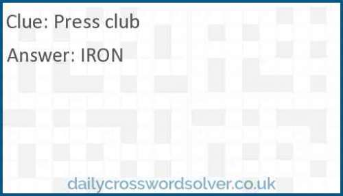 Press club crossword answer