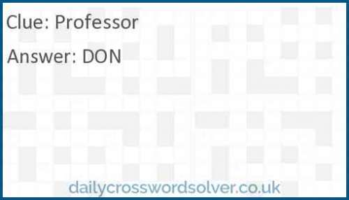 Professor crossword answer