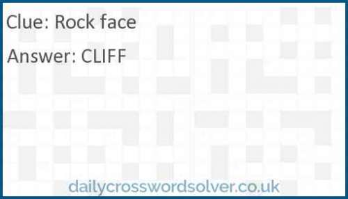 Rock face crossword answer