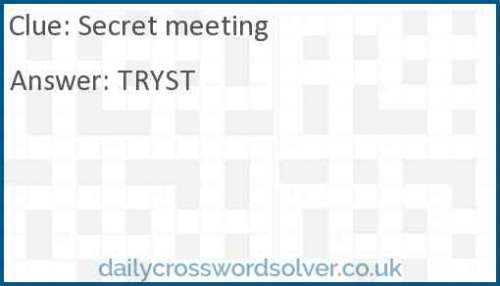 Secret meeting crossword answer