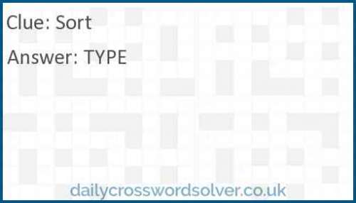 Sort crossword answer