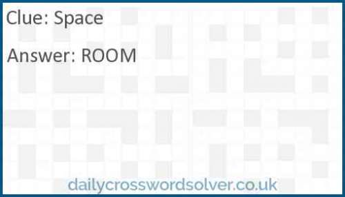 Space crossword answer