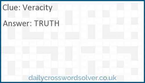 Veracity crossword answer