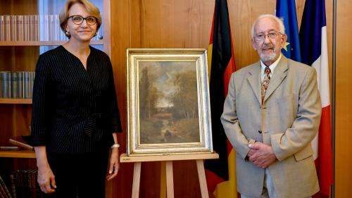 Un Allemand rend à la France un tableau spolié par son père en 1944