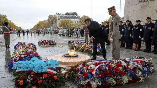 Commémorations du 11-Novembre : Emmanuel Macron a ravivé la flamme du soldat inconnu