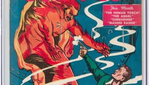 La toute première bande dessinée de Marvel vendue aux enchères à un prix record