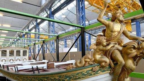 Le canot d'apparat de Napoléon 1er dévoilé à Brest après 77 ans d'absence