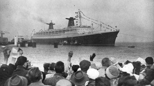 Histoire : il y a 60 ans, le paquebot France était mis à l'eau à Saint-Nazaire par le Général de Gaulle