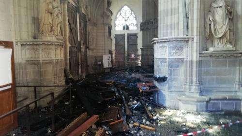 Incendie de la cathédrale de Nantes :