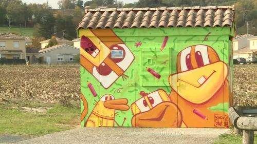 Dans le Lot-et-Garonne, des transformateurs EDF relookés version street art