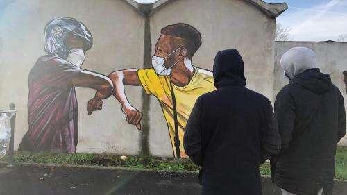 Malgré le confinement, les street-artistes s'inspirent du Covid-19 et s'approprient les rues