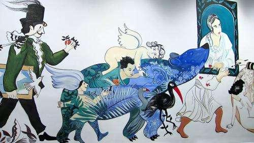 Les œuvres du musée Mandet de Riom métamorphosées dans une immense fresque colorée