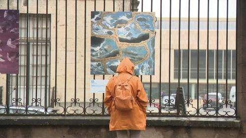 À Dole dans le Jura, les œuvres d'art s'exposent dans les rues et dans les boutiques