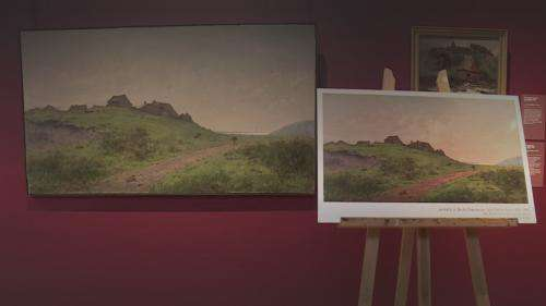 A Saint-Lô, les œuvres d'un musée s'exposent dans les commerces