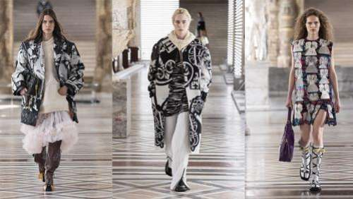 Vuitton clôt la Paris Fashion Week virtuelle automne-hiver 2021-22 avec ses tenues avant-gardistes, au Louvre