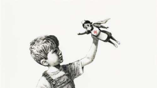 Près de 20 millions d'euros : record pour une œuvre de Banksy, vendue aux enchères pour soutenir les personnels de santé contre le Covid-19