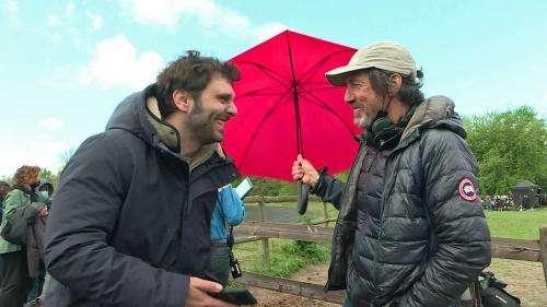 Pio Marmaï et Carmen Kassovitz en tournage dans l'Oise pour