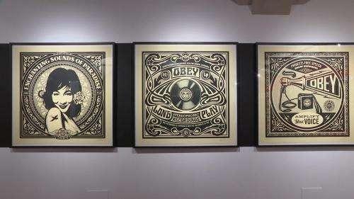 La star mondiale du street art Shepard Fairey exposée tout l'été à Annecy-le-Vieux