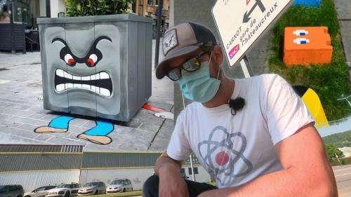 Oakoak, le street artiste de Saint-Étienne qui redessine la ville avec humour et poésie