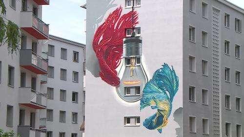 Grenoble se pare de nouvelles fresques murales monumentales à l'occasion du 7e Street Art Fest