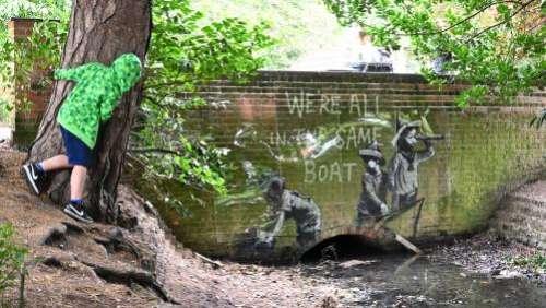 L'artiste de rue Banksy confirme avoir réalisé plusieurs nouvelles œuvres apparues sur des murs anglais