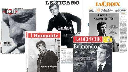 EN IMAGES. Les unes de la presse française et internationale après la mort de Jean-Paul Belmondo