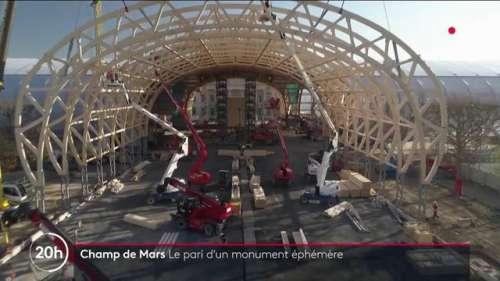 Champ de Mars : un impressionnant Grand Palais éphémère construit en 7 mois