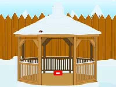 Snowy Yard Escape