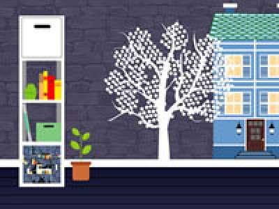 Blue House Room