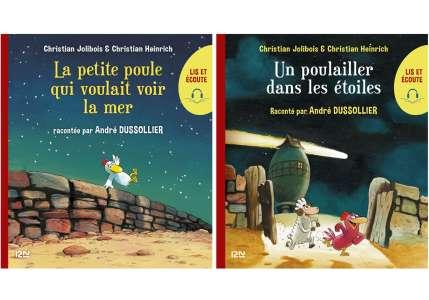 Lis et écoute Les P'tites Poules – 2 livres numériques enrichis lus par André Dussollier