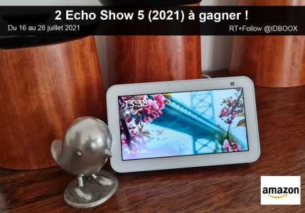 Jeu-Concours – 2 Amazon Echo Show 5 modèle 2021 à gagner !