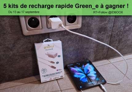 Jeu-Concours – 5 Kits de recharge rapide Green_e à gagner !