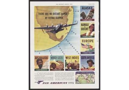 Les archives publicitaires de la compagnie aérienne Pan-Am en accès libre