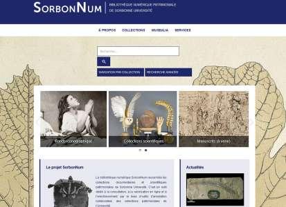 SorbonNum la bibliothèque numérique de La Sorbonne en accès libre