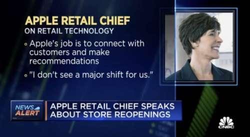 Deirdre O'Brien parle de l'avenir des Apple Store