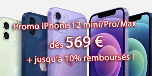 🔥 Promo : iPhone 11/Pro/Max dès 589€ – iPhone 12/mini/Pro/Max dès 569€
