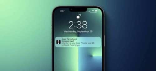 Impossible de désactiver les notifications du clavier Apple TV sur iOS 15