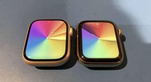 Comparaison de la taille de l'écran de l'Apple Watch Series 7 vs Series 6