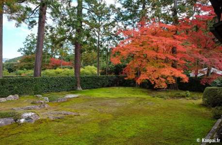 Entsu-ji - Le jardin shakkei avec le Mont Hiei à Kyoto