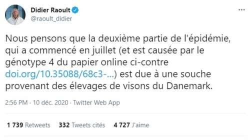 L'élevage de visons d'Eure-et-Loir est-il à l'origine de la deuxième vague de Covid-19 comme l'affirme Didier Raoult ?