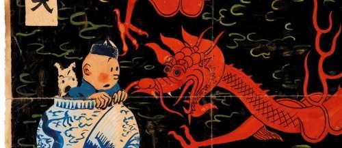 Tintin: la couverture originale du «Lotus bleu» aux enchères