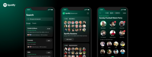 Spotify lance Greenroom, son application Clubhouse