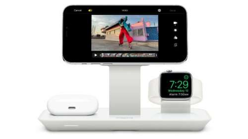 Mophie : un support de charge 3 en 1 compatible MagSafe (iPhone, AirPods, Apple Watch)