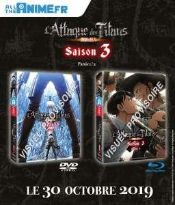 La 1e partie de la 3e saison de L'Attaque des Titans en DVD & Blu-ray chez @Anime