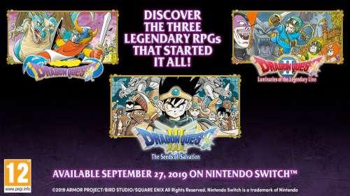 Les 3 premiers Dragon Quest arrivent sur Switch